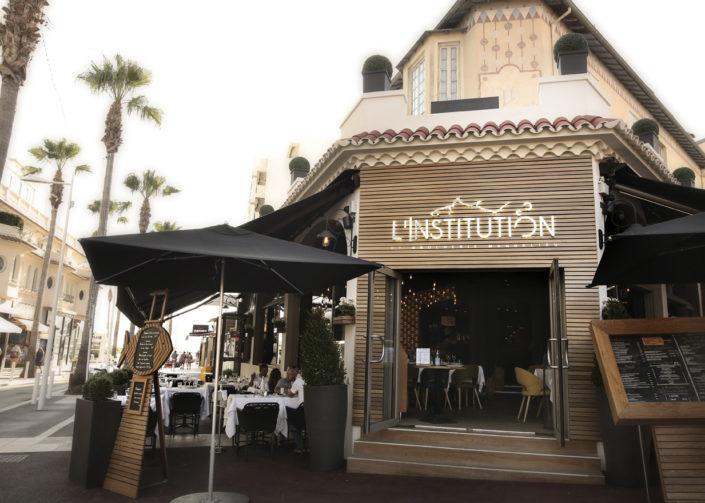 Contacter le Restaurant L'Institution by Brocherie Mandelieu Spécialités de poissons et fruits de mer à Juan-les-Pins