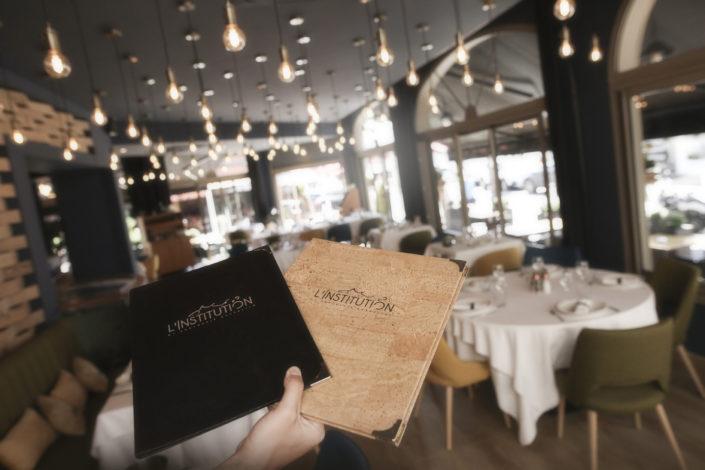Restaurant L'Institution by Brocherie Mandelieu Spécialités de poissons et fruits de mer à Juan-les-Pins - Notre carte.