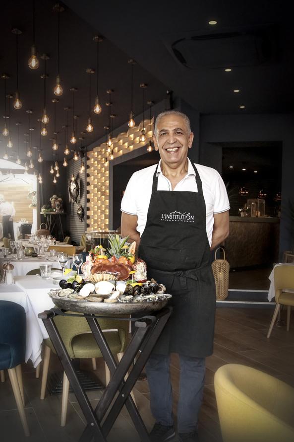 Restaurant L'Institution by Brocherie Mandelieu Spécialités de poissons et fruits de mer à Juan-les-Pins - Les plateaux